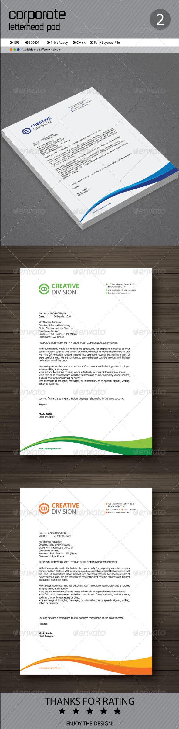 GraphicRiver Corporate Letterhead 7177265