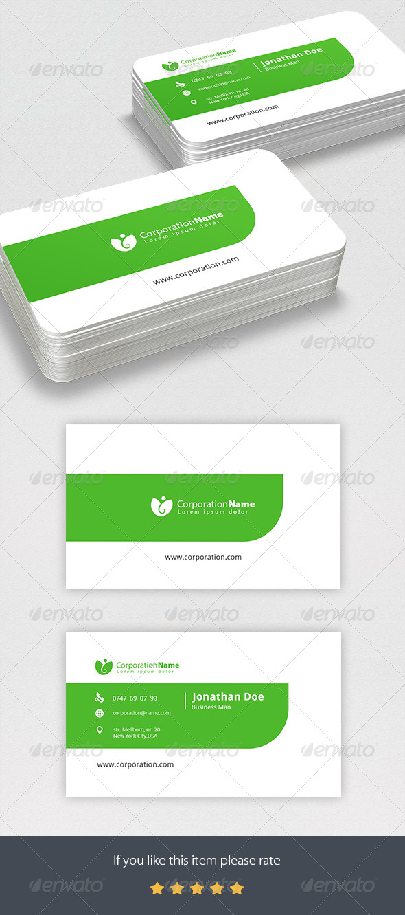 GraphicRiver Corporate Business Card 7177423