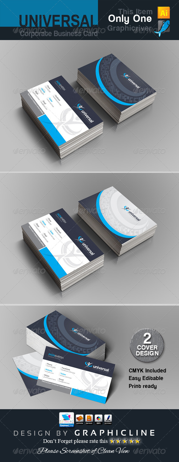 GraphicRiver universal Corporate business card 7158334