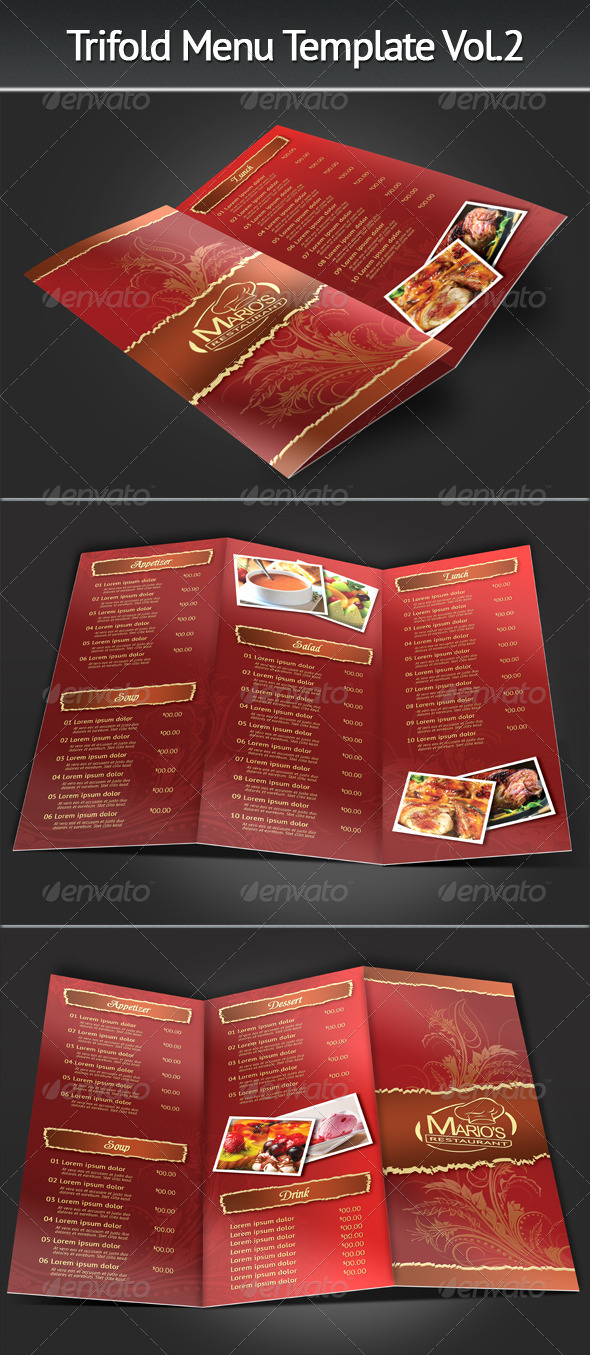 Trifold Menu Template Vol.2