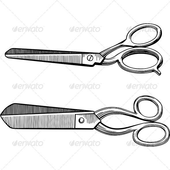 GraphicRiver Retro Scissors 7180289