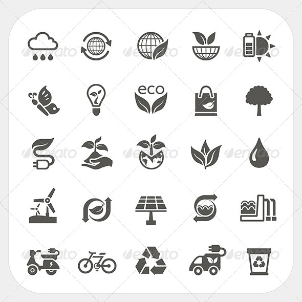 GraphicRiver Ecology Icons Set 7180438