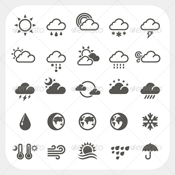 GraphicRiver Weather Icons Set 7180439