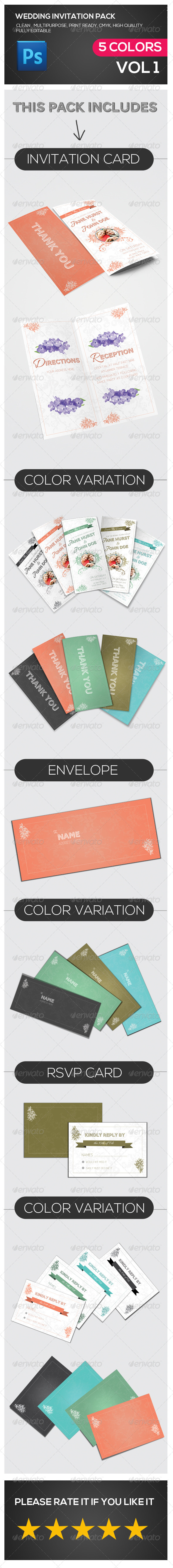GraphicRiver Wedding Invitation Multipurpose Pack 7181089