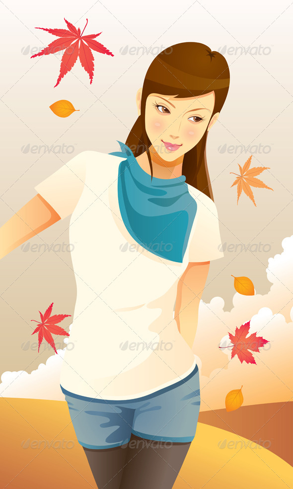Pretty Autumn Girl - People Characters