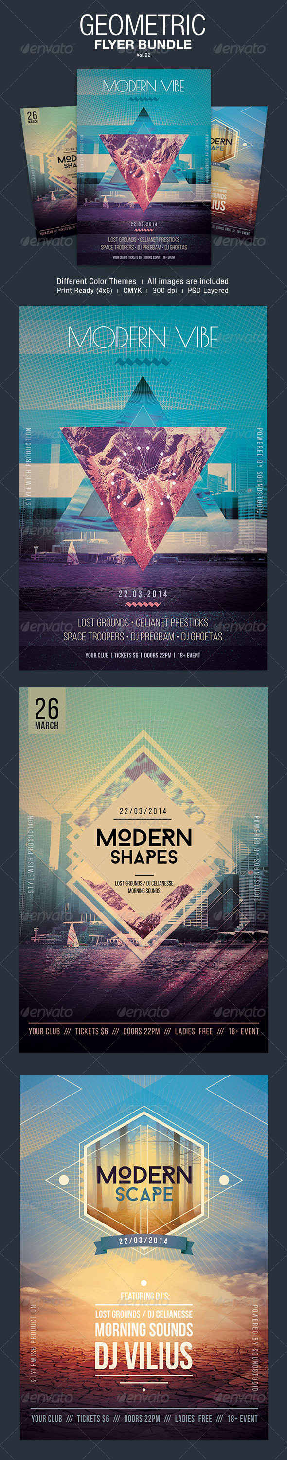 GraphicRiver Geometric Flyer Bundle Vol.02 7181472