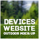 Devices website outdoor Mock-up - GraphicRiver Item for Sale