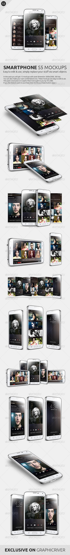 GraphicRiver Smartphone S5 Mockups 7181783