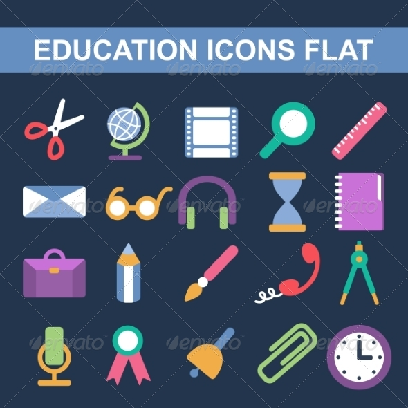 GraphicRiver Flat Icons 7182049