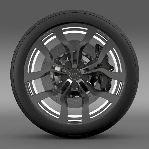 3DOcean Audi R8 V10 Spyder 2013 wheel 7182256
