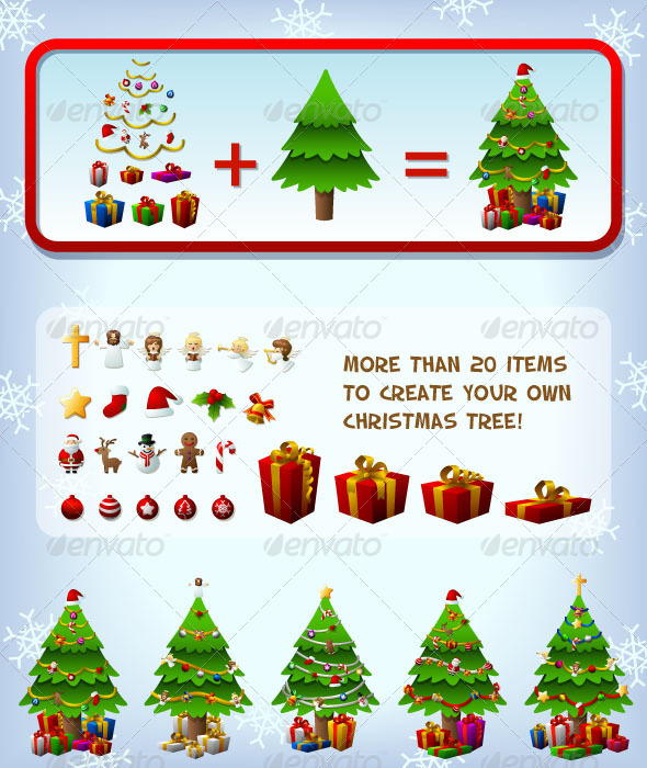 GraphicRiver Customizeable Christmas Tree 753285