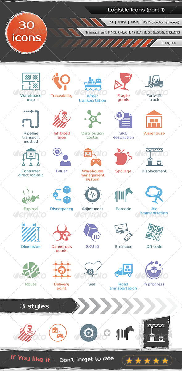 GraphicRiver Logistic icons 7182840