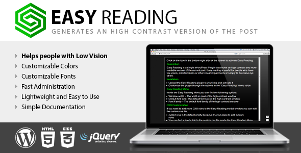 Easy Reading - Tool for visually impaired viewers - CodeCanyon Item for Sale