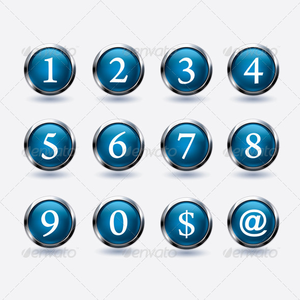 GraphicRiver Set of Buttons with Number 7184615
