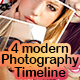 4 modern photography timeline - GraphicRiver Item for Sale