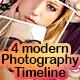 4 modern photography timeline - GraphicRiver Item for Sale