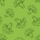 Seamless Pattern of Broccoli