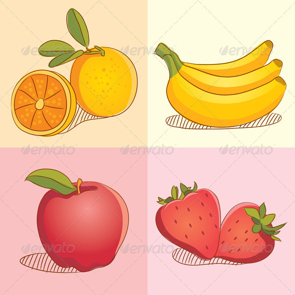Graphic River Fruit Collections Vectors -  Objects  Organic objects 753465