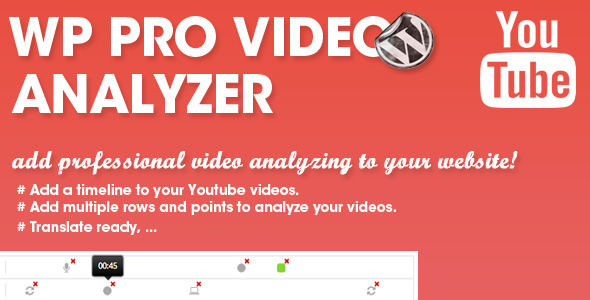 Add professional video analyzing to your website! The wp pro video analyzer allows you to add professional looking video analyzing to your website. Simply load