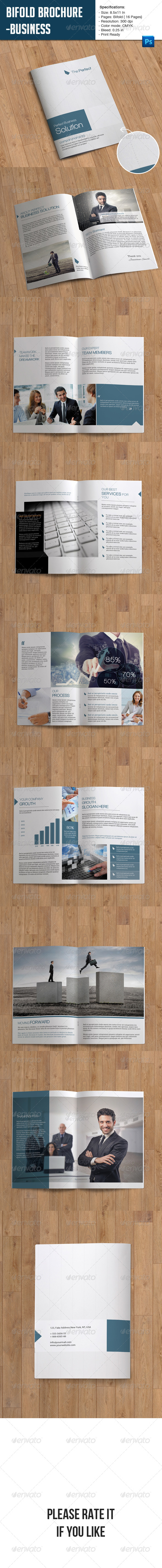 GraphicRiver Bifold Brochure-Business 7185408