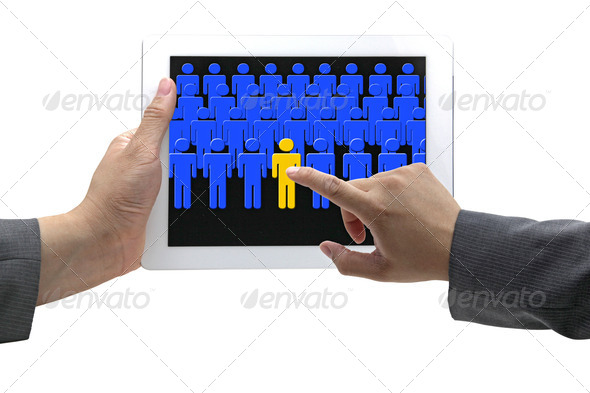 electronic recruitment process - Stock Photo - Images