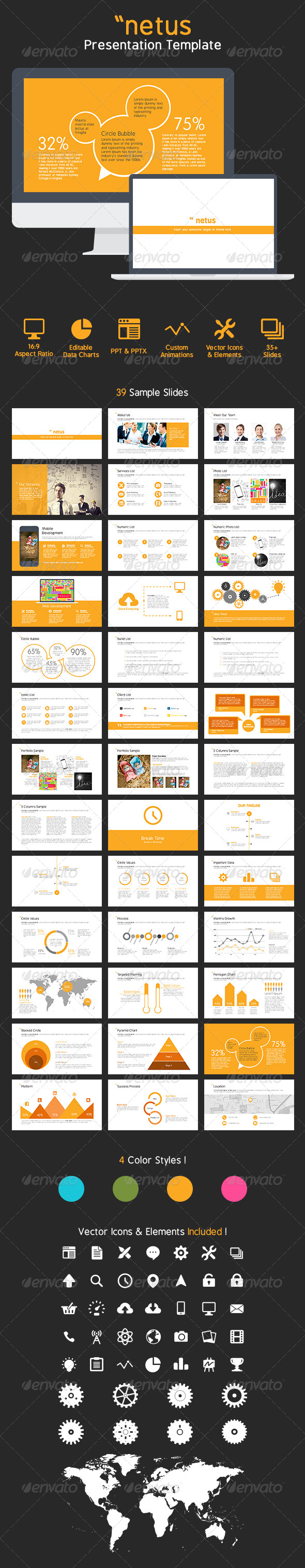GraphicRiver netus PowerPoint Presentation Templates 7169196