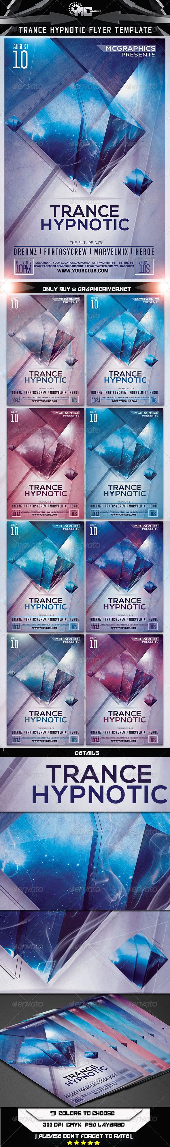 GraphicRiver Trance Hypnotic Flyer Template 7185562