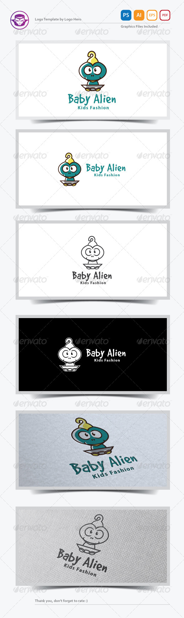 GraphicRiver Baby Alien Logo Template 7185653