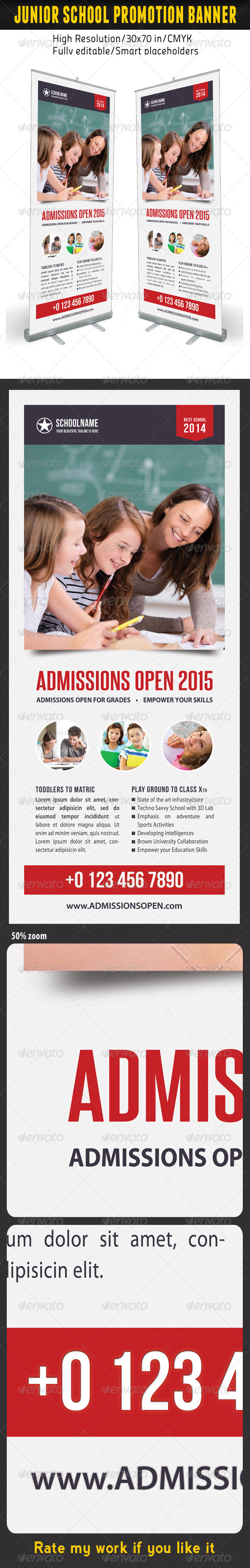GraphicRiver Junior School Promotion Banner Template 08 7186065