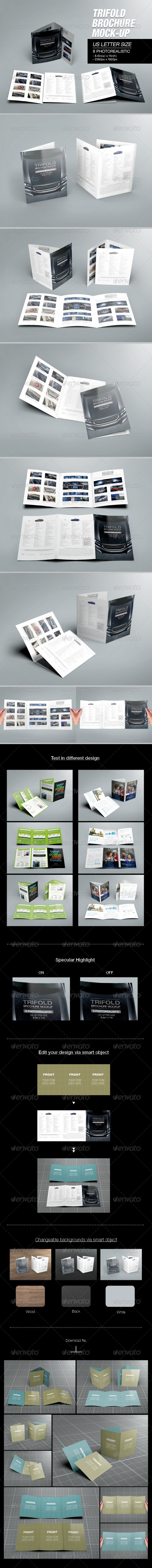 GraphicRiver Trifold Brochure Mock-up 02 7186420