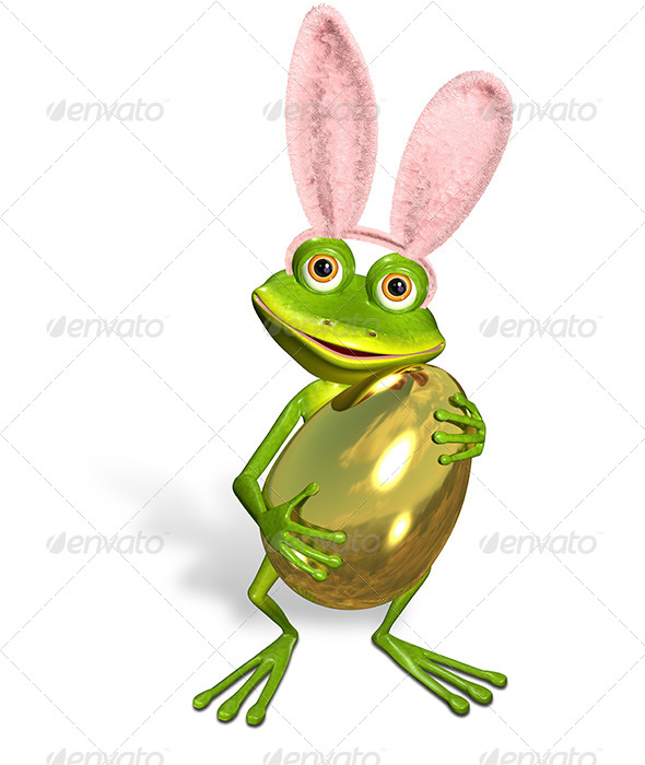 GraphicRiver Easter frog 7186639