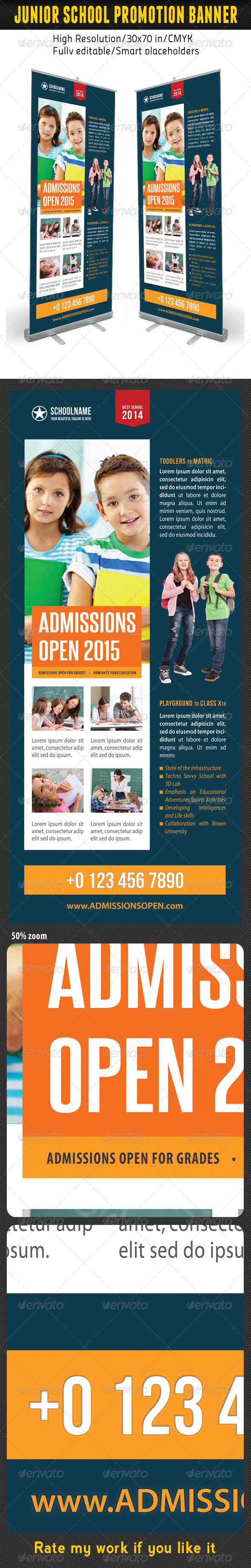 GraphicRiver Junior School Promotion Banner Template 09 7186658
