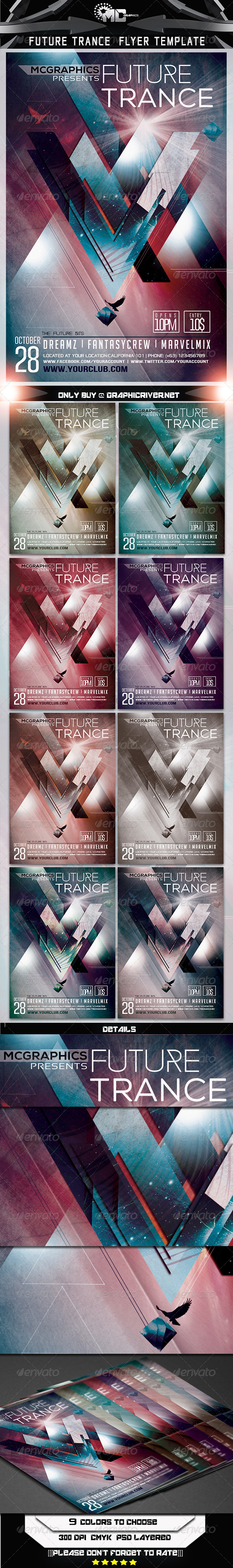 GraphicRiver Future Trance Flyer Template 7186755