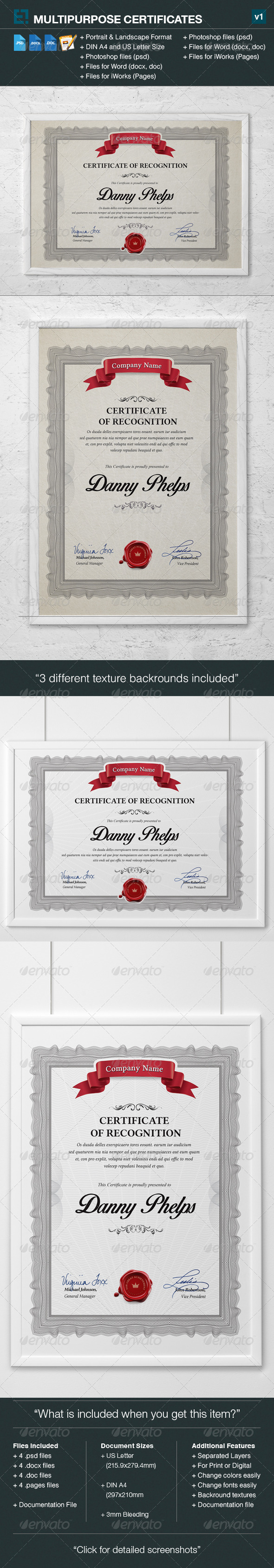 GraphicRiver Multipurpose Certificates 7165021