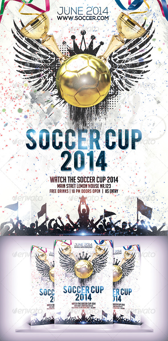 GraphicRiver Soccer Cup 2014 Flyer 6993438