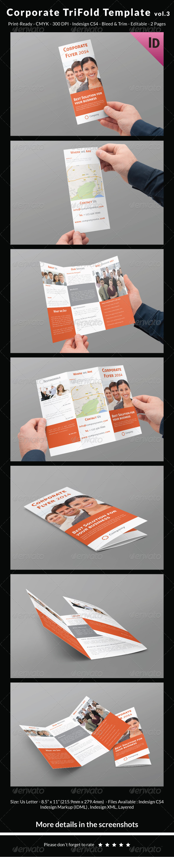 Corporate Trifold Template vol.3
