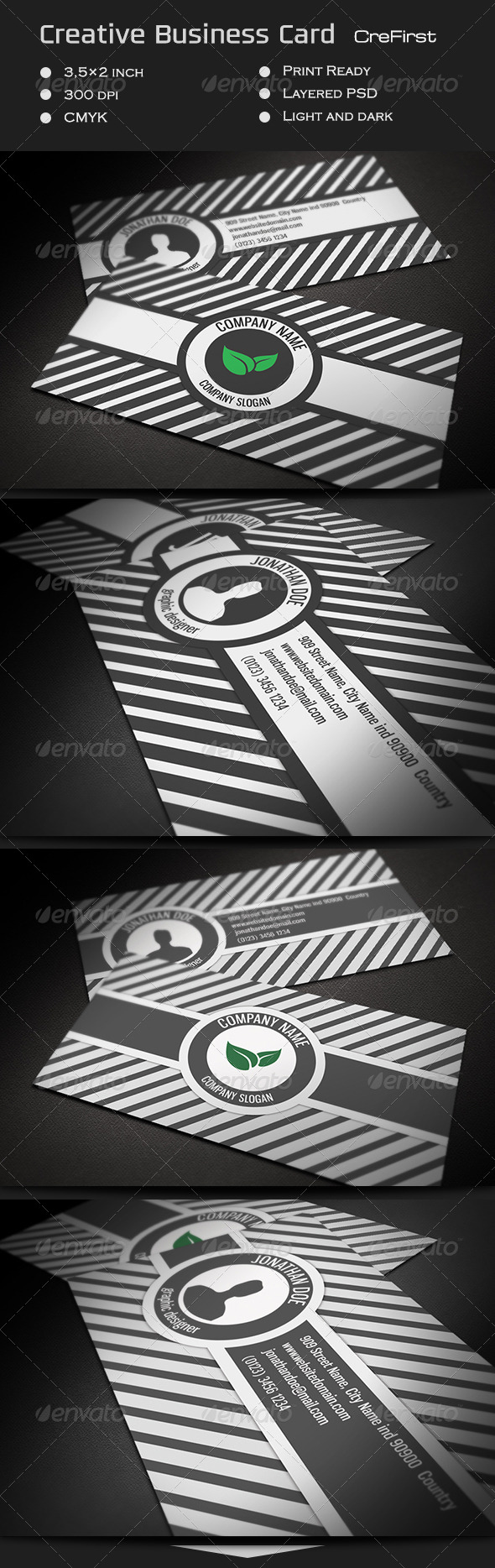 GraphicRiver Creative Business Card CreFirst 7187096