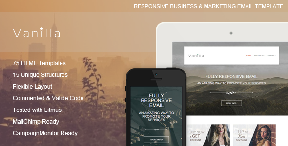 Vanilla - Responsive Email Template