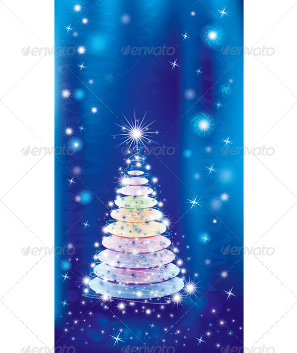 GraphicRiver Illuminated Christmas Tree 7187150