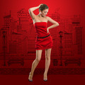 Woman in Red Dress - PhotoDune Item for Sale
