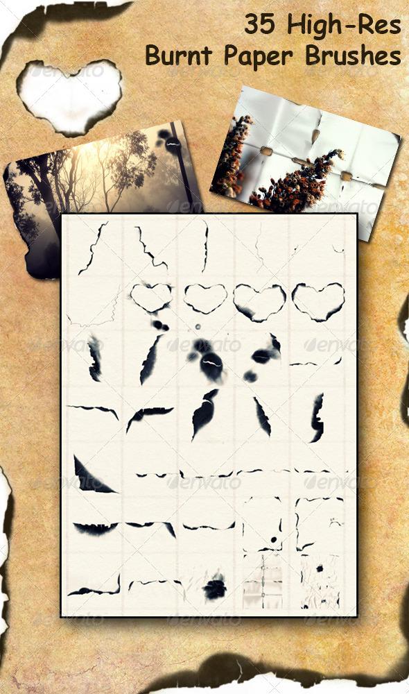 GraphicRiver Burnt Paper Brush Set 7187778