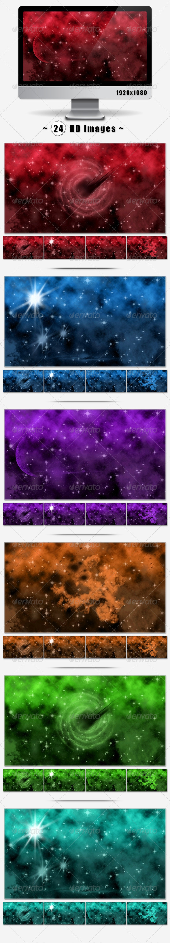 GraphicRiver 24 Space Backgrounds 7187851