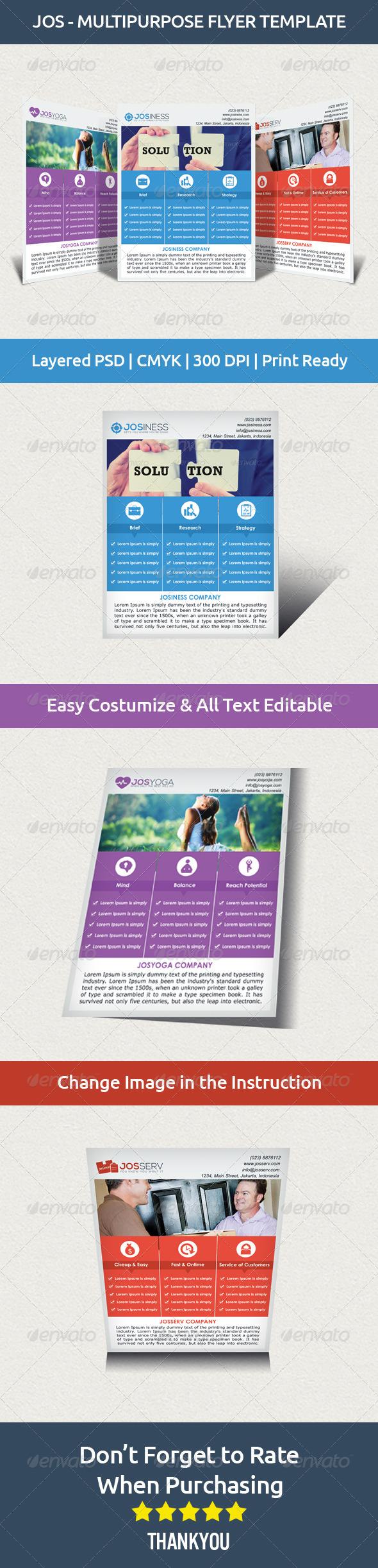 GraphicRiver JOS Multipurpose Flyer Template 7187938