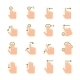 Hand Touch Gesture Icons - GraphicRiver Item for Sale