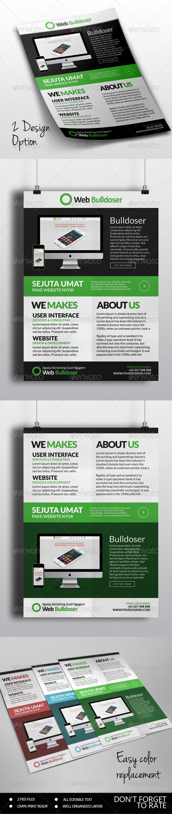 GraphicRiver Premuim Website Design Flyer 7188371