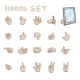 Hands Gestures Icons - GraphicRiver Item for Sale