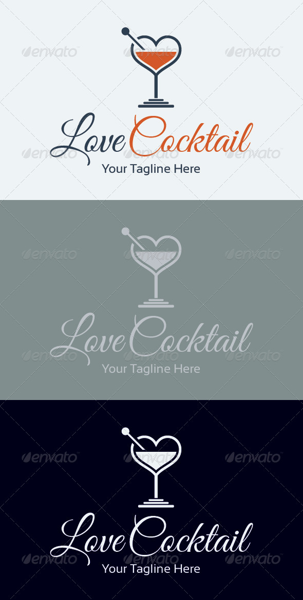 Cocktail Logos Free Love Cocktail Logo Template