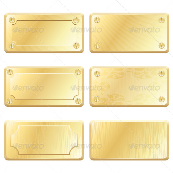 GraphicRiver Gold Metal Labels 7188603