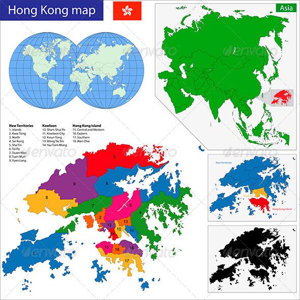 GraphicRiver Hong Kong Map 7188795