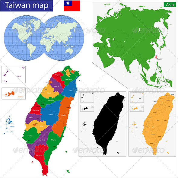 GraphicRiver Taiwan Map 7188858